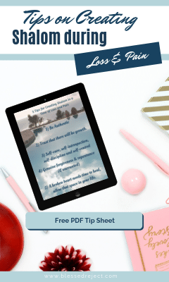 Free Tips on Create Shalom during Crisis and Pain