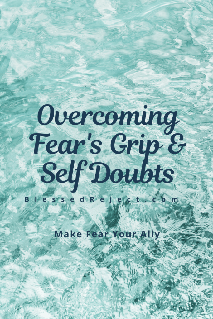 Use calming water to overcome fear's grip