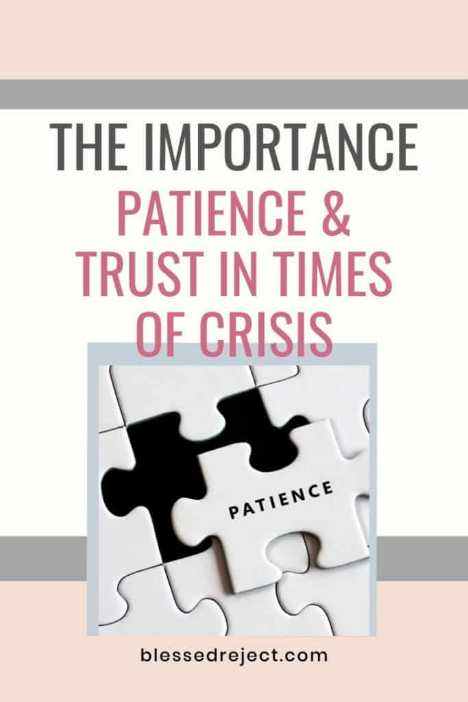 White puzzle of patience and trust in time of crisis