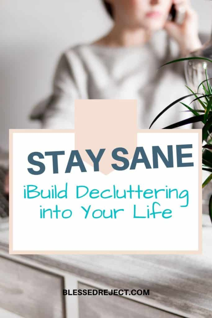 Woman decluttering to stay sane