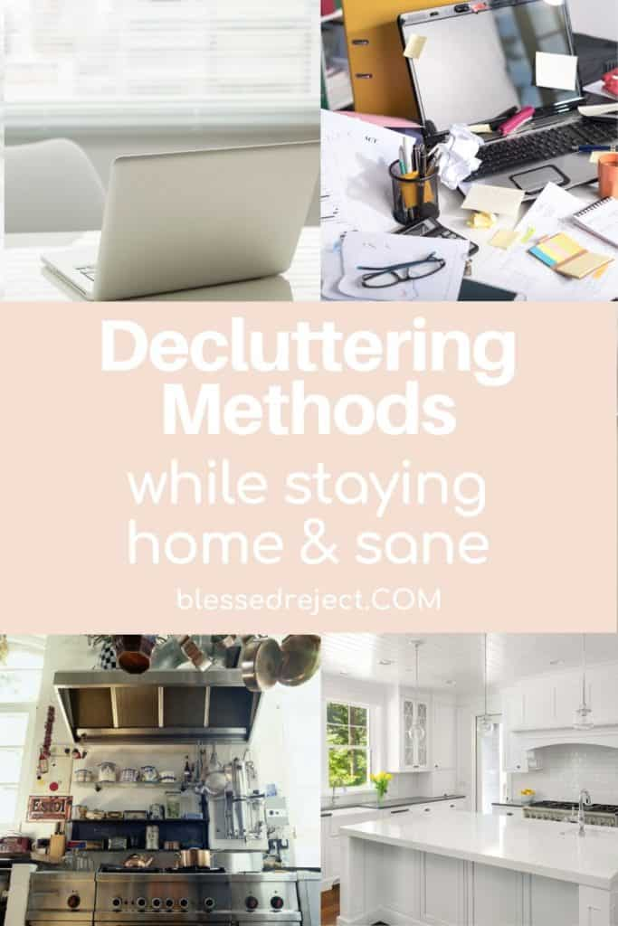 Cluttered & Decluttered Office and Kitchen