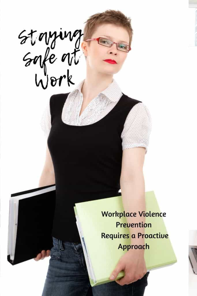 woman staying safe at work