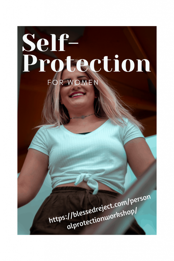 woman happy about self-protection