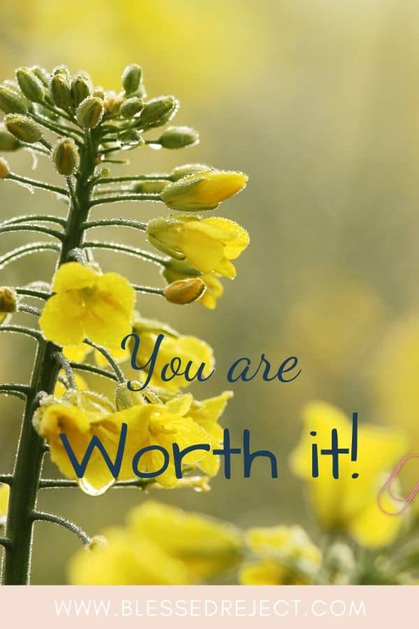 flowers showing you are worth it