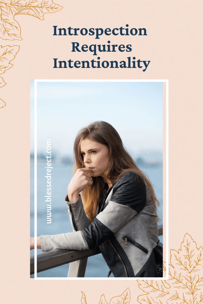 woman introspection with intentionality