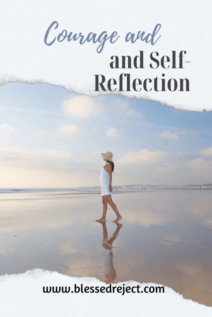 Courage and self-reflection on the beach